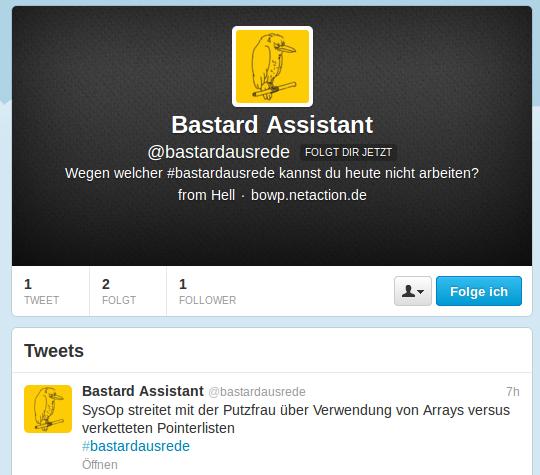 Bastardausrede Twitter-Channel