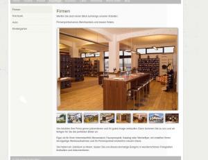 """Das Plugin """"simple scrollbar gallery"""" im Einsatz"""